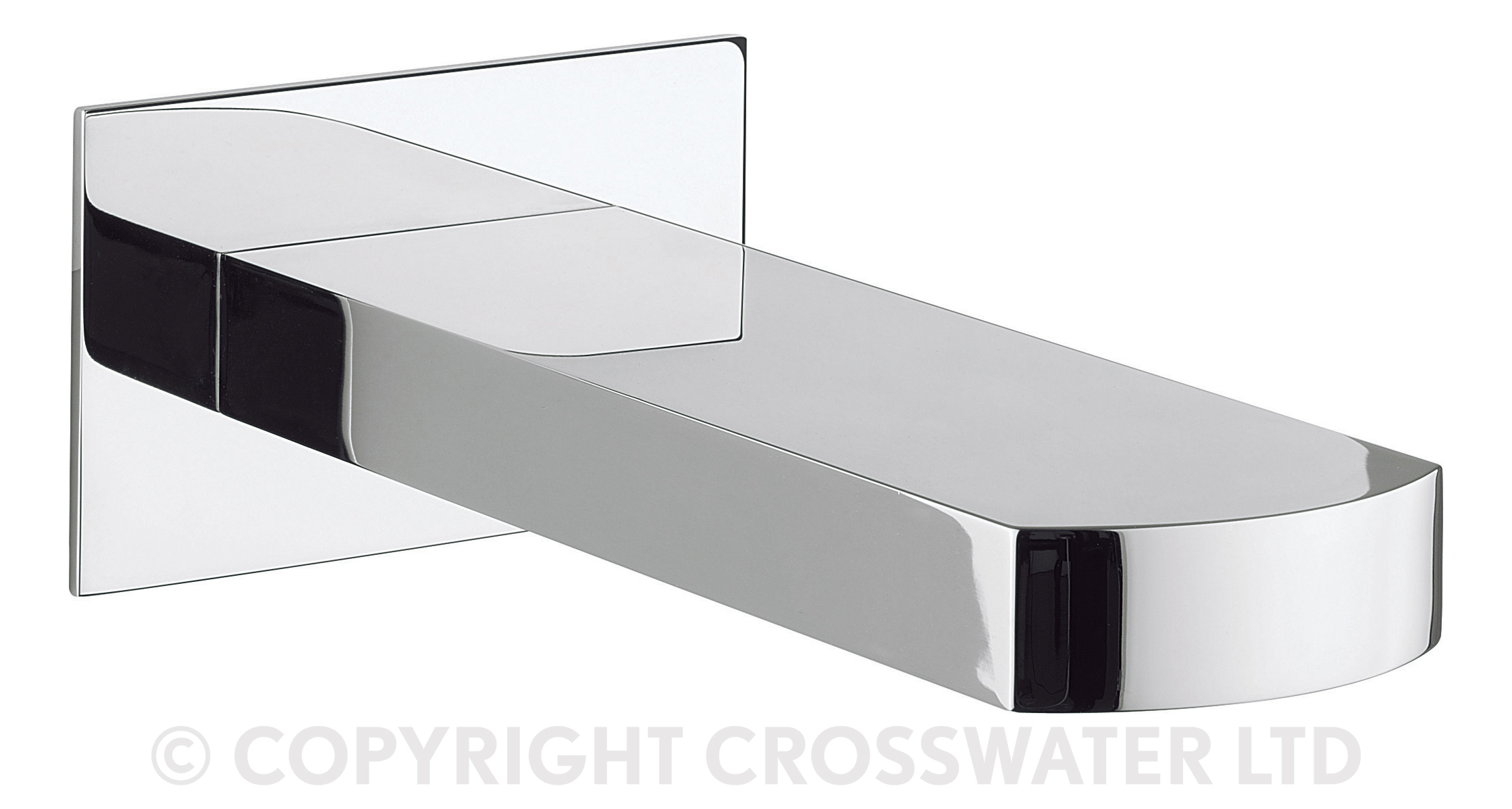 CROSSWATER WISP Bath Spout Wall Mounted chrome HP1 1bar